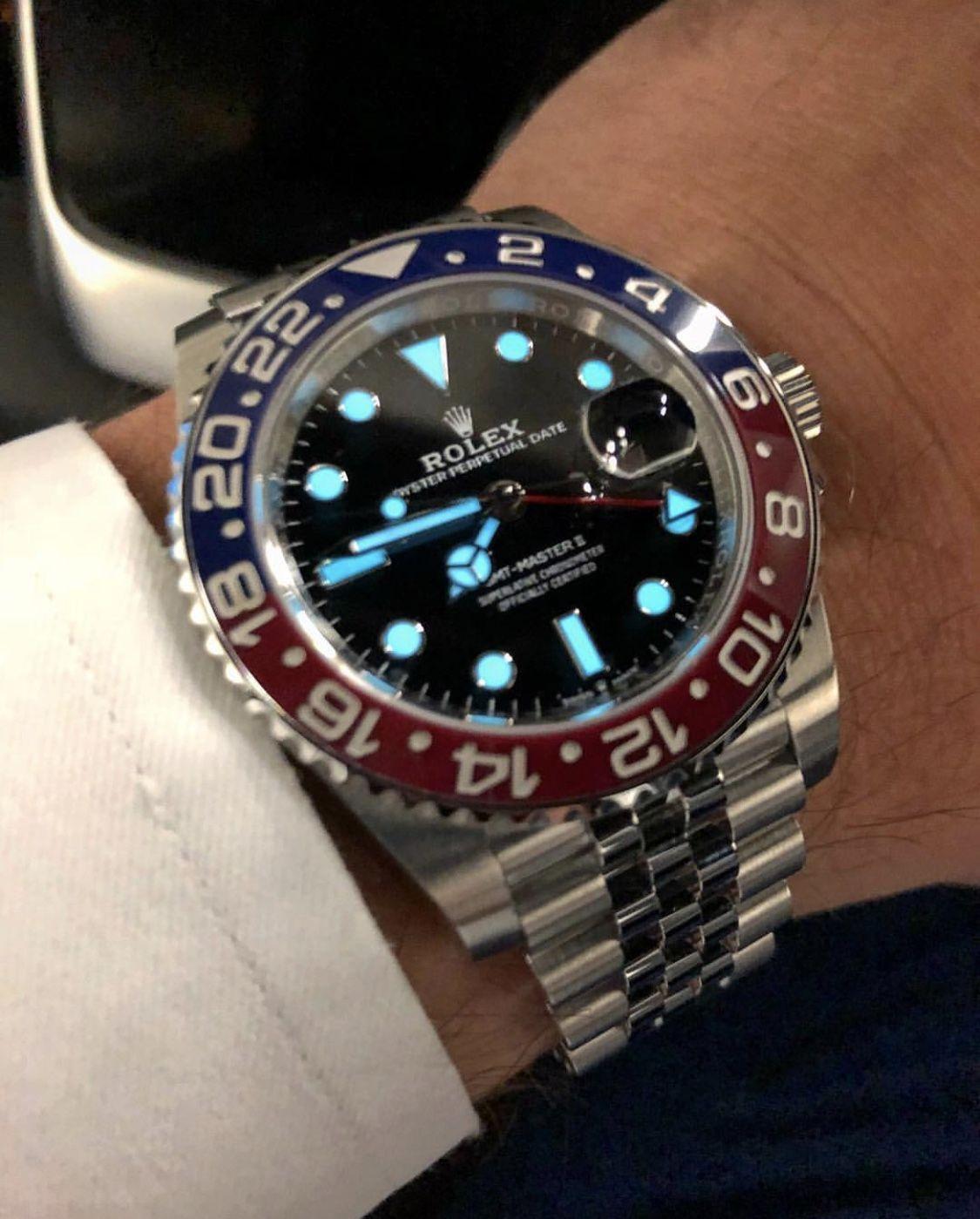 Rolex Gmt Master Ii Pepsi Rolex Horloges Horloges Rolex