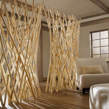 Natural Room Divider accessories and decor Camping Hostel Ideas