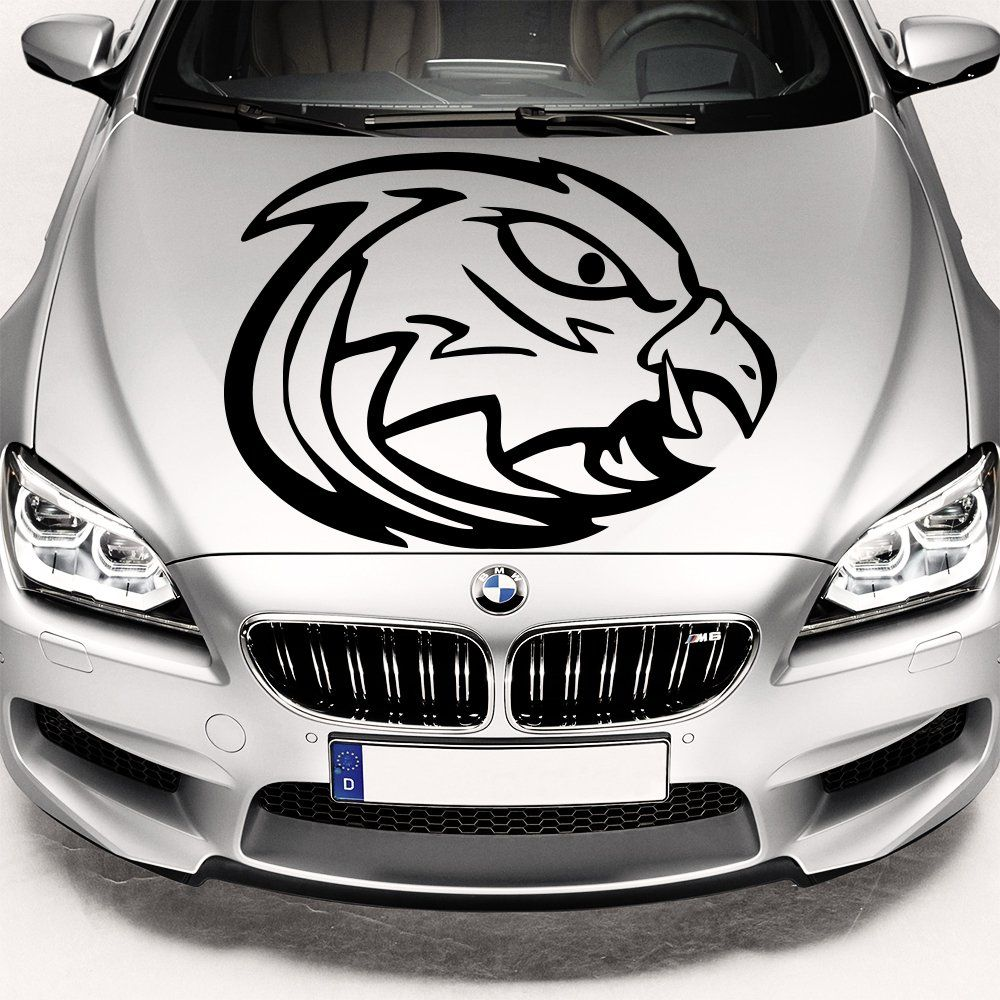 Car sticker eagle - Car Decals Hood Decal Vinyl Sticker Eagle Bird Predator Auto Decor Graphics Os108