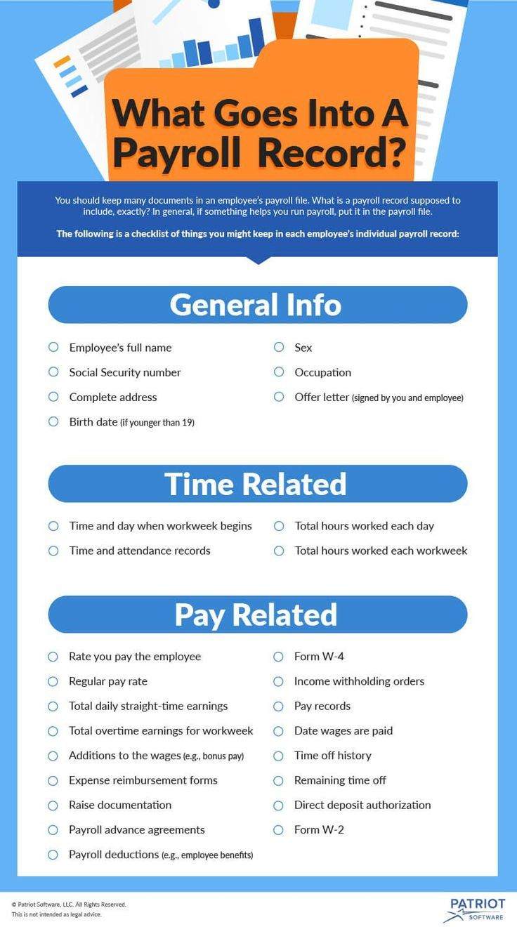 What Should I Include in My Employee Payroll Records