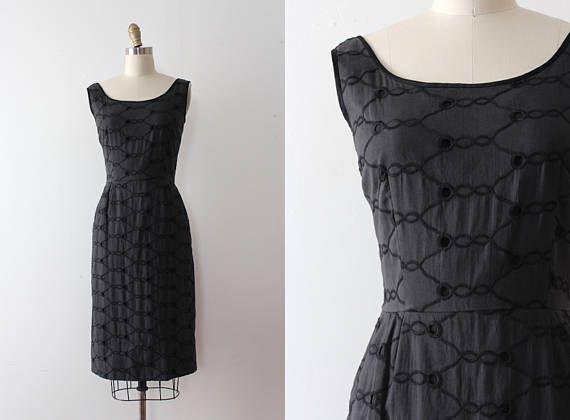 de0d384e9384 vintage 1950s Jerry Gilden dress    50s cotton wiggle dress ...