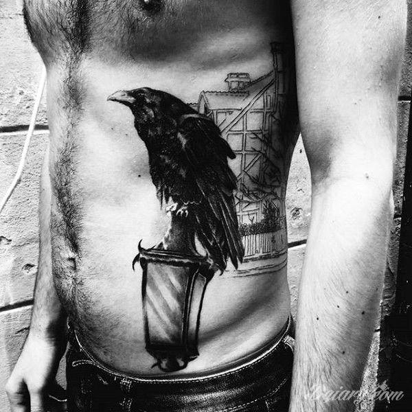 Niezwykle Realistyczny Tatuaż Kruka Dziarycom Raven