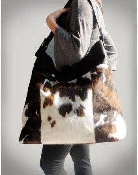 Henig Furs Fabulous Leather Cowhide Hair On Hide Oversized Tote Bag Purse Henigfurs
