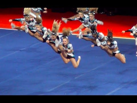 Cheer Extreme Cougars WINS NCA after MUSIC CUTS OFF!! ok this is just awesome for them to keep going after the music cuts of and for them to finish thats just awesome