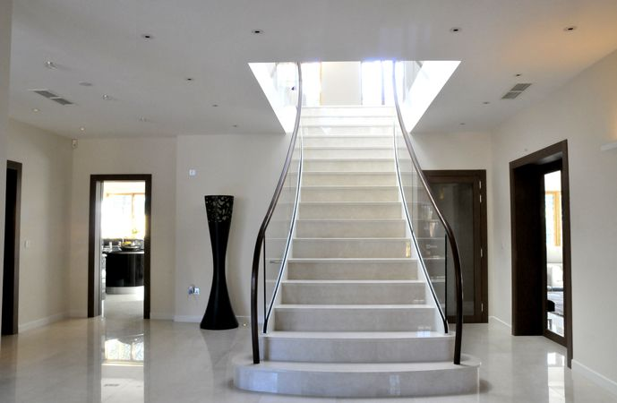 Best Modern Straight Staircase Bespoke Design Marmortreppe 400 x 300