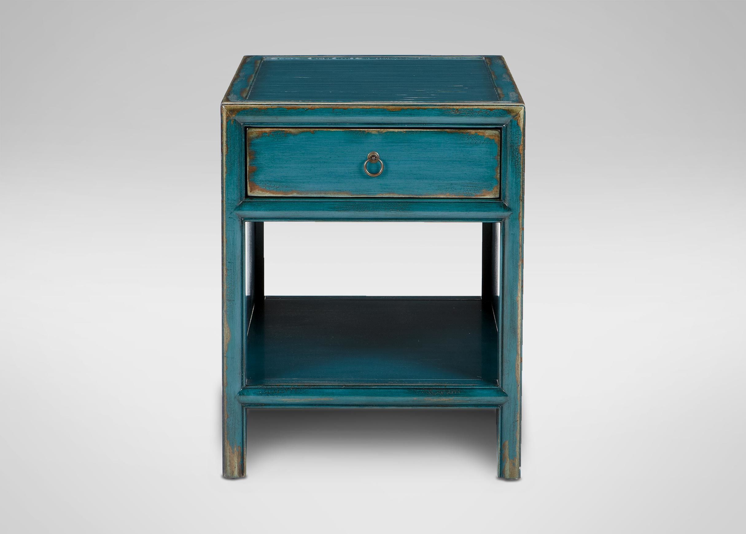 Dynasty End Table , Aged Teal (304) , large_gray