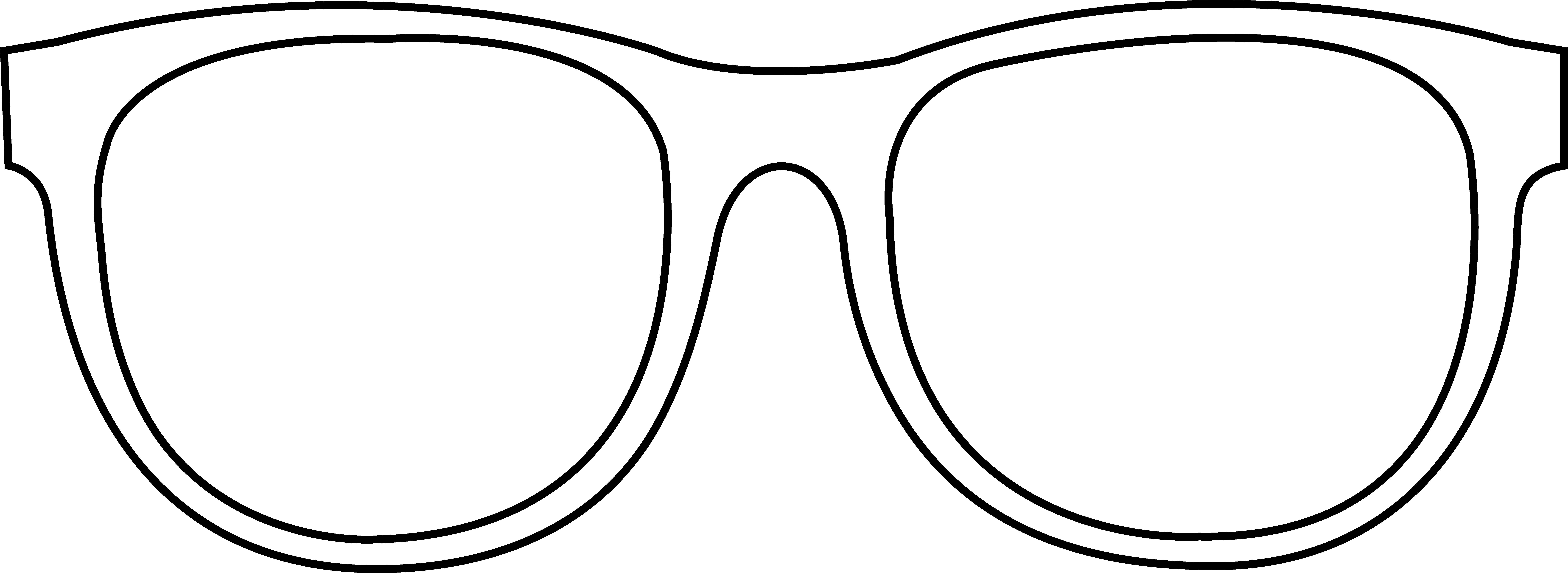 Resource image with printable sunglasses