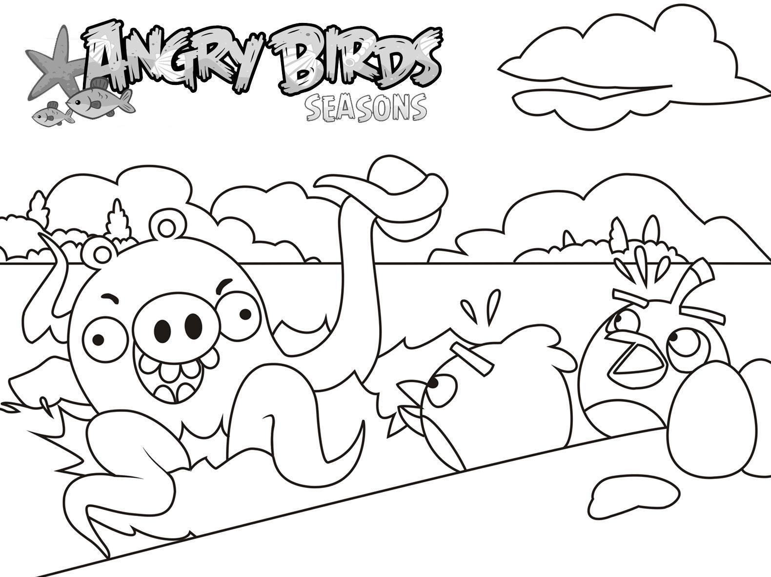 50 Bức Tranh To Mau Angry Birds Ngộ Nghĩnh Danh Cho Be Trong 2021 Trang To Mau Sach To Mau Angry Birds