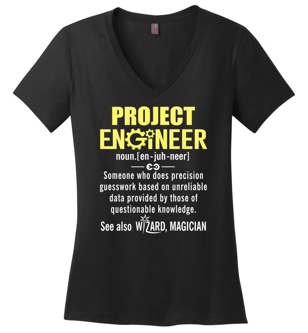 Project Engineer Definition - District Made Ladies Perfect Weight V-Neck