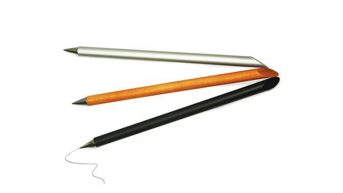 Beta Inkless Pen Aluminum Alloy Steel Golden Color Inkless Pen Office Stationery