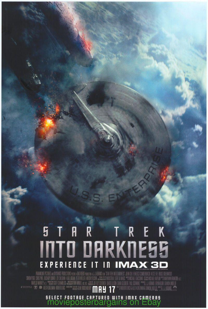 STAR TREK INTO DARKNESS MOVIE POSTER Ultra Rare UN-USED IMAX Advance