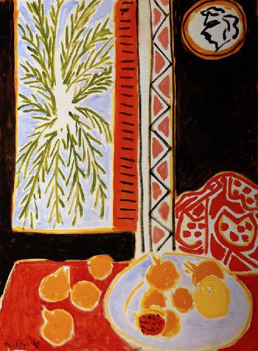Matisse 1947 nature morte aux grenades henri for Matisse fenetre