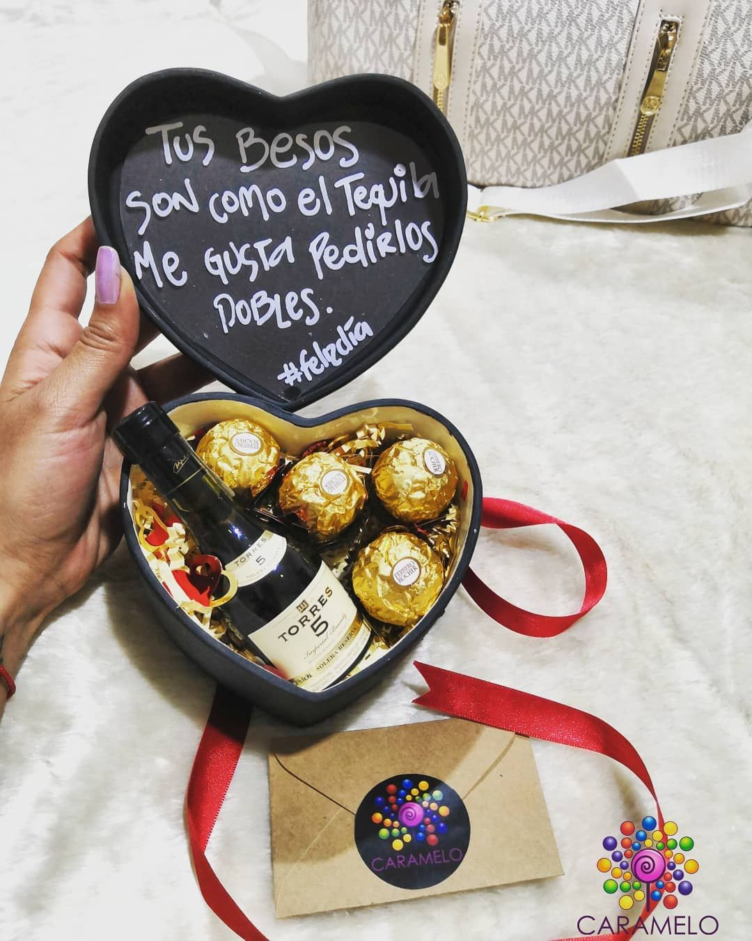 Tus Besos Son Como El Tequila Me Gusta Pedirlos Dobles Carameloarreglos Giftbox Loveit Originalbox Heart Candy Chocolate Box Chocolate