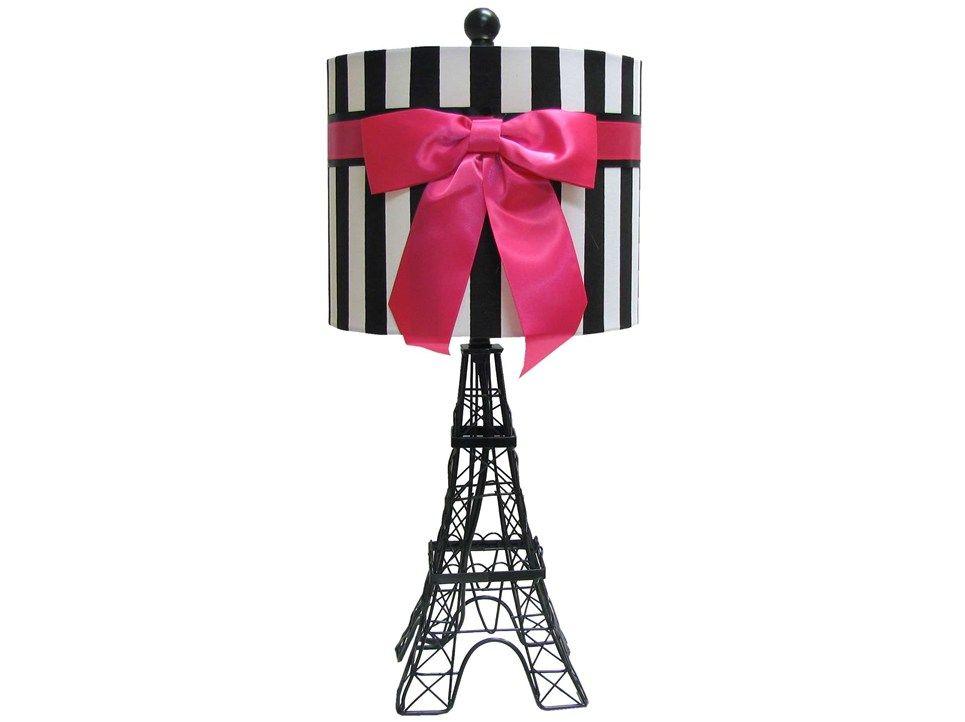 Black Eiffel Tower Lamp With Stripe Shade Shop Hobby Lobby Paris Themed Bedroom Paris Themed Room Eiffel Tower Lamp
