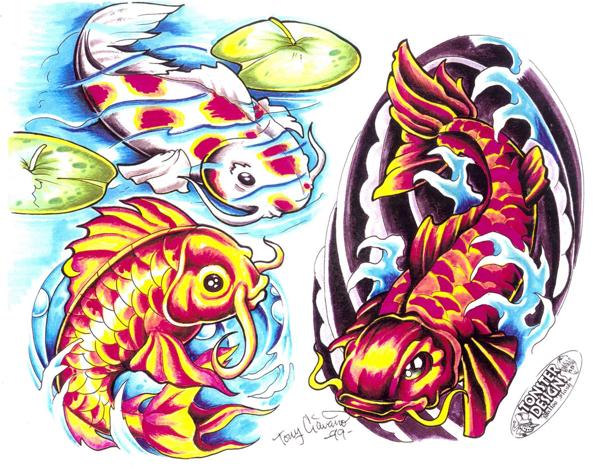 Pez koi  Tatuajes  Pinterest  Tattoo studio Tattoo designs and