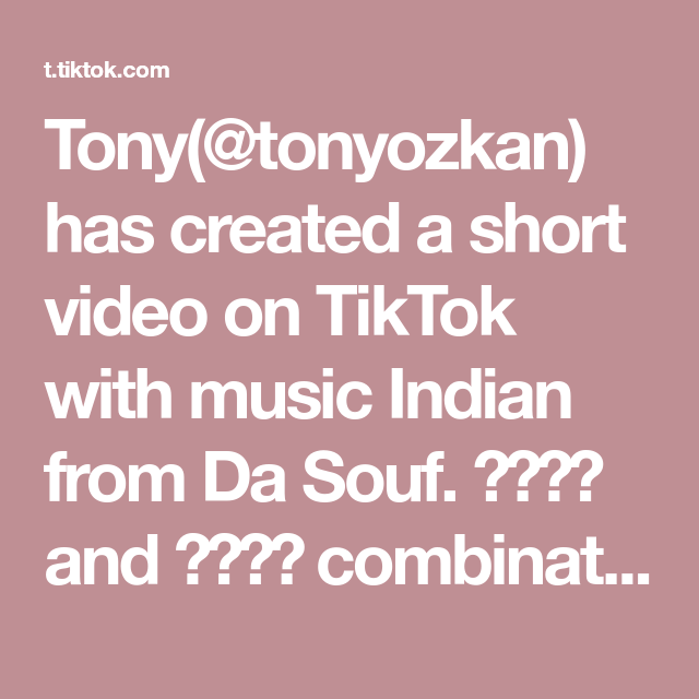 Tony Tonyozkan Has Created A Short Video On Tiktok With Music Indian From Da Souf And Combination Rockin In 2021 Music Memes Video The Originals