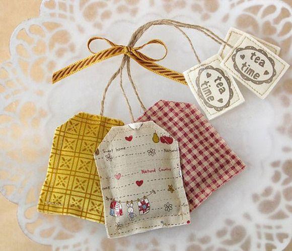 497c726a4 Bolsitas de té de lavanda - Manualidades de tela y fieltro - Manualidades  para niños -