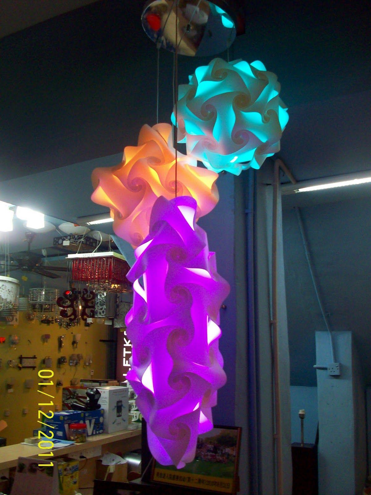 Vlightdeco Iq Light Puzzle Pendant Jigsaw Lamp Styles Iq Puzzle Puzzle Lights Crafts Lanterns