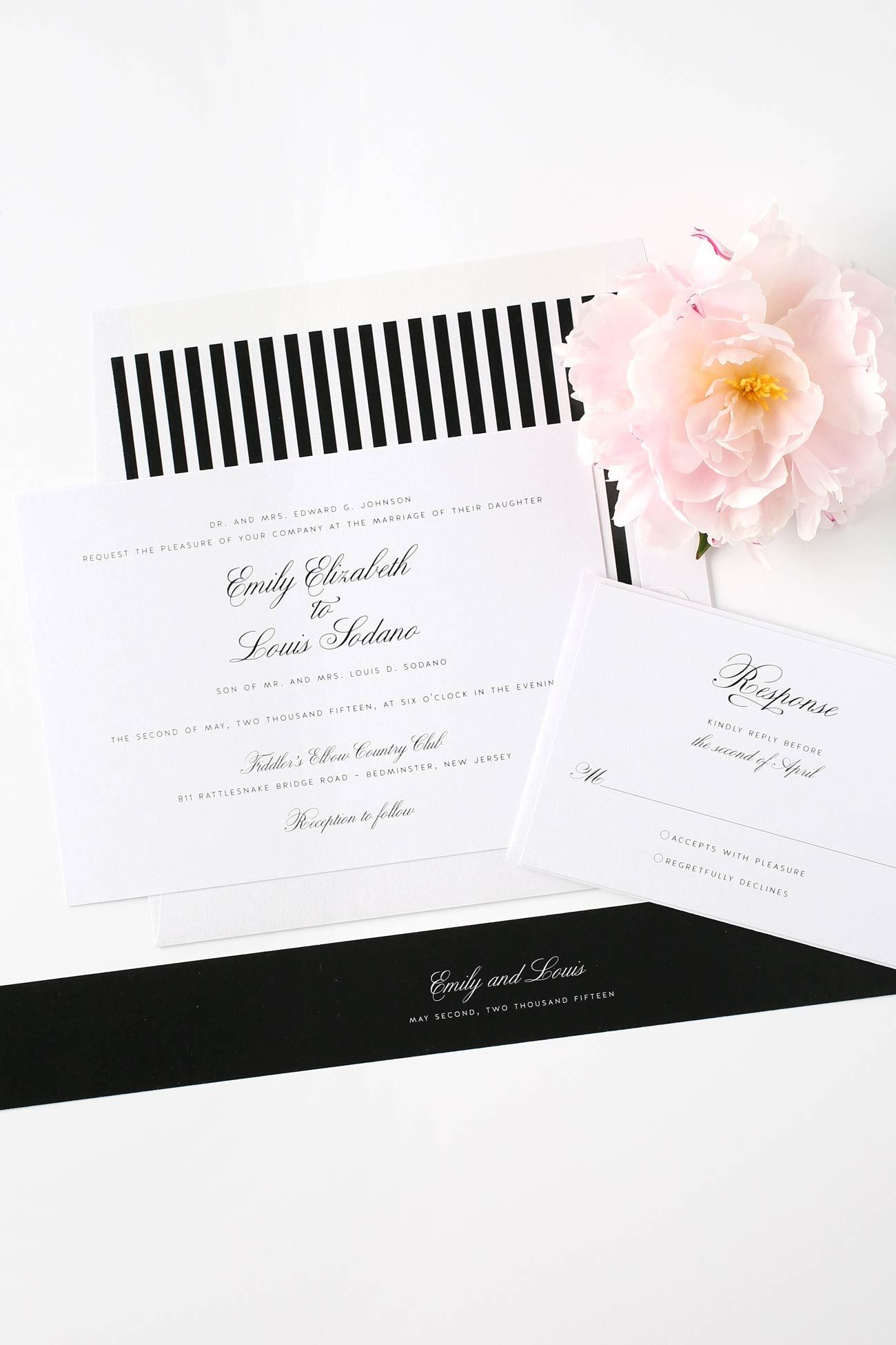 sample wedding invitation email wording to colleagues%0A     s Wedding Invitations in Black   White