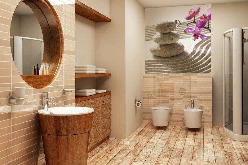 Badezimmer-Ideen-kleine-Baeder-Feng-Shui-Stil-einrichten-Ideen - badezimmer einrichten ideen