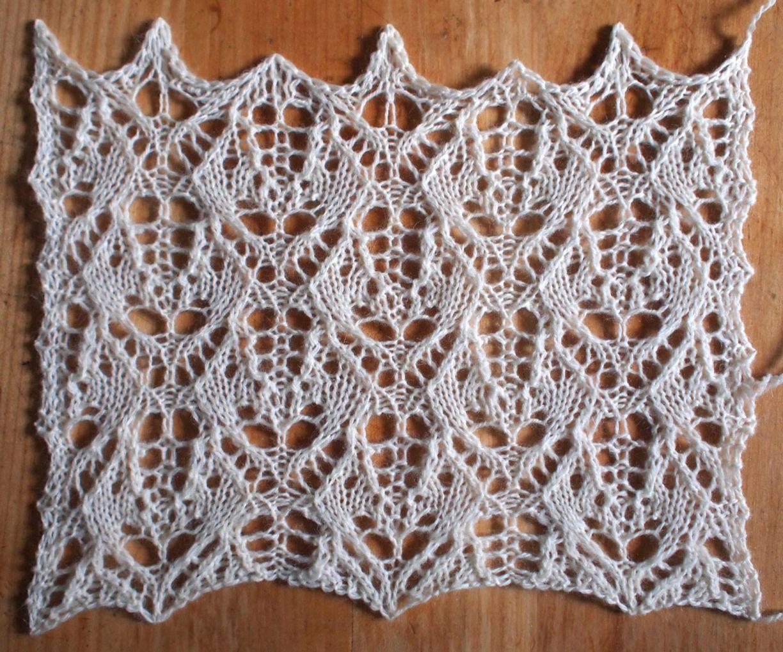 Heatwave: a free lace knitting stitch pattern, by Naomi Parkhurst ...
