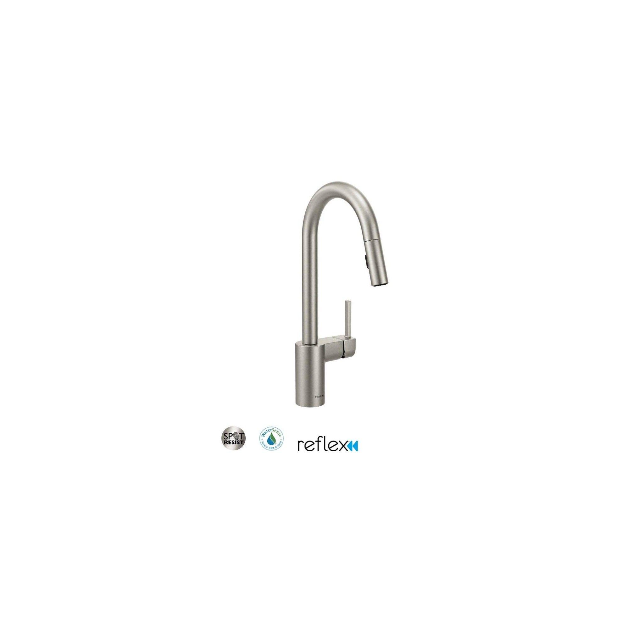 Moen 7565 Align Pull Down Spray Kitchen Faucet Spot Resist