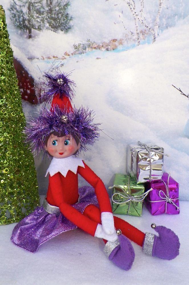 Elfz on the shelf party wear, Girl Elf, pretty in purple