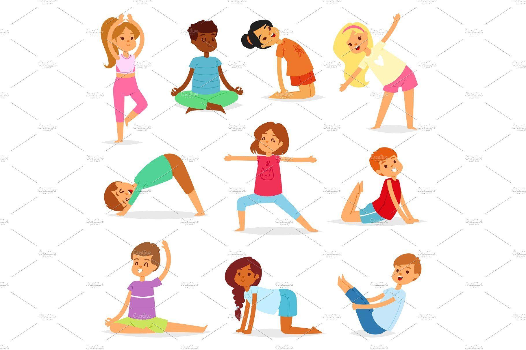 Yoga Kids Vector Young Child Yogi Kids Vector Yoga For Kids Kid Character