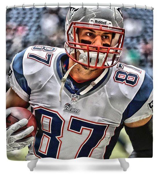 Rob Gronkowski New England Patriots Shower Curtain Gronkowski