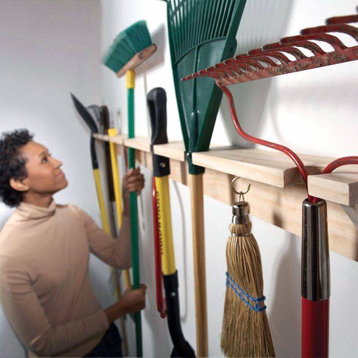 34 diy garage organization hacks garden tool storage on best garage organization and storage hacks ideas start for organizing your garage id=24905