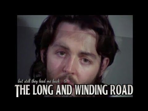 The Beatles The Long And Winding Road Music Video Youtube Road Music Music Videos The Beatles