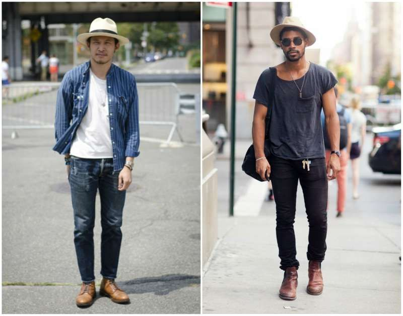 mens street style how to wear a hat fedora 40bd6f16874