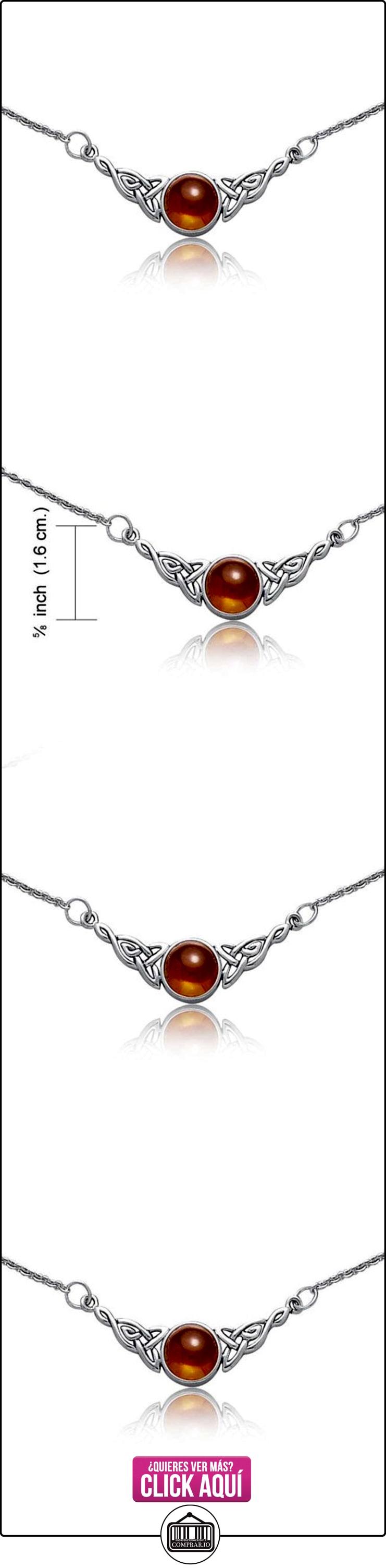 Bling Jewelry Nudo Celta Triquetra Plata Esterlina Colgante Ámbar Natural Collar 18 en  ✿ Joyas para niñas - Regalos ✿ ▬► Ver oferta: https://comprar.io/goto/B005P0P1PY