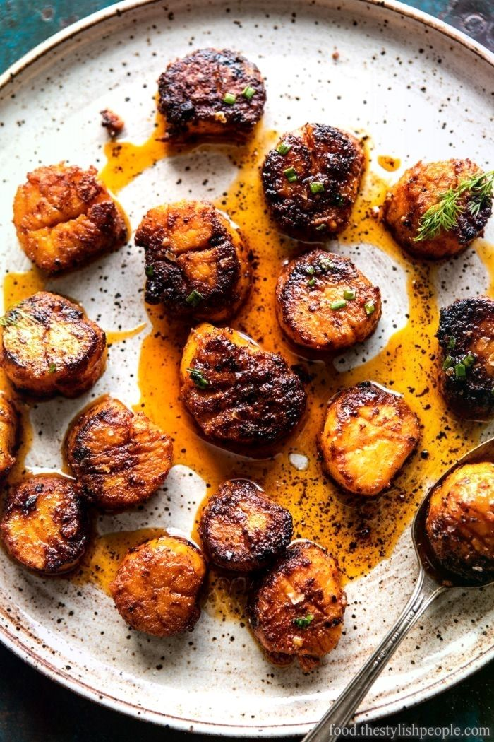 Exceptional Honey Butter Blackened Scallops with Herby Polenta Exceptional Honey Butter Blackened Scallops with Herby Polenta
