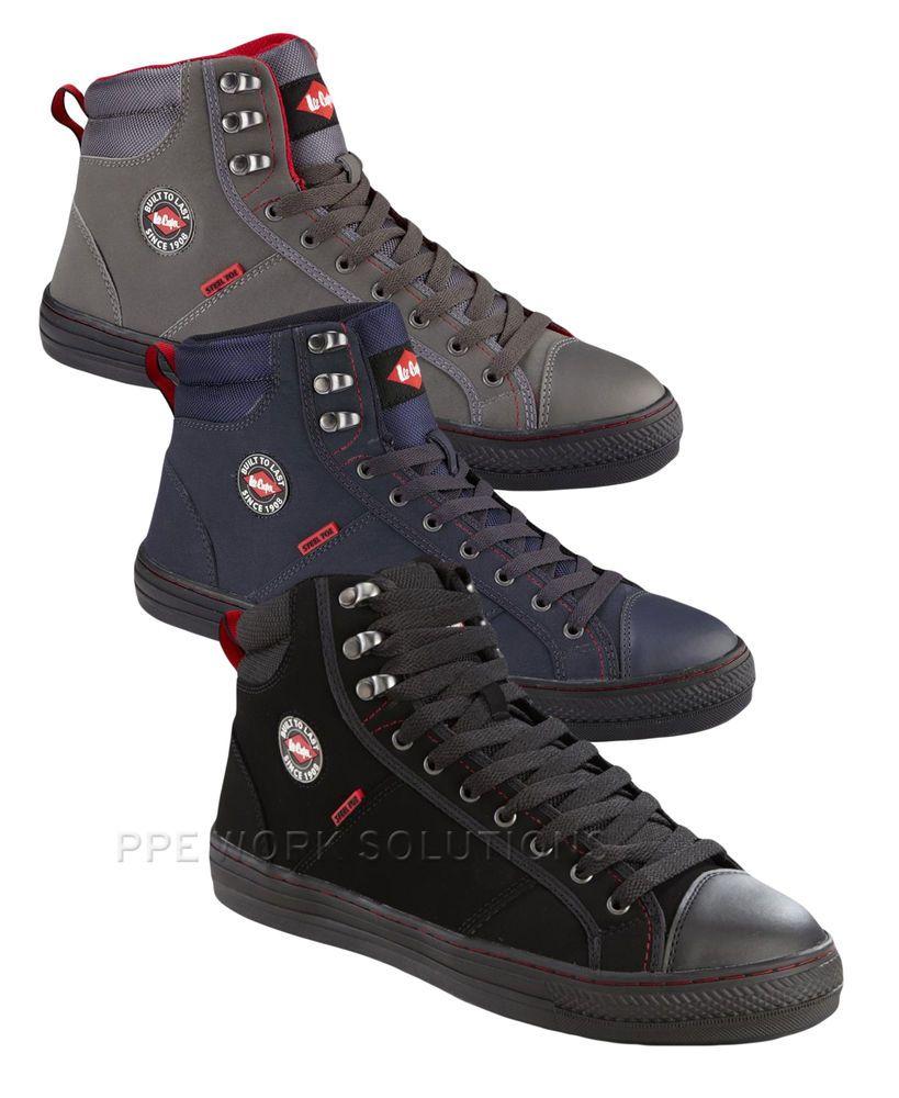 e6162688ef97 Lee Cooper Baseball Boots Mens Safety Footwear Steel Toe Cap Shoes  (LCSHOE022)
