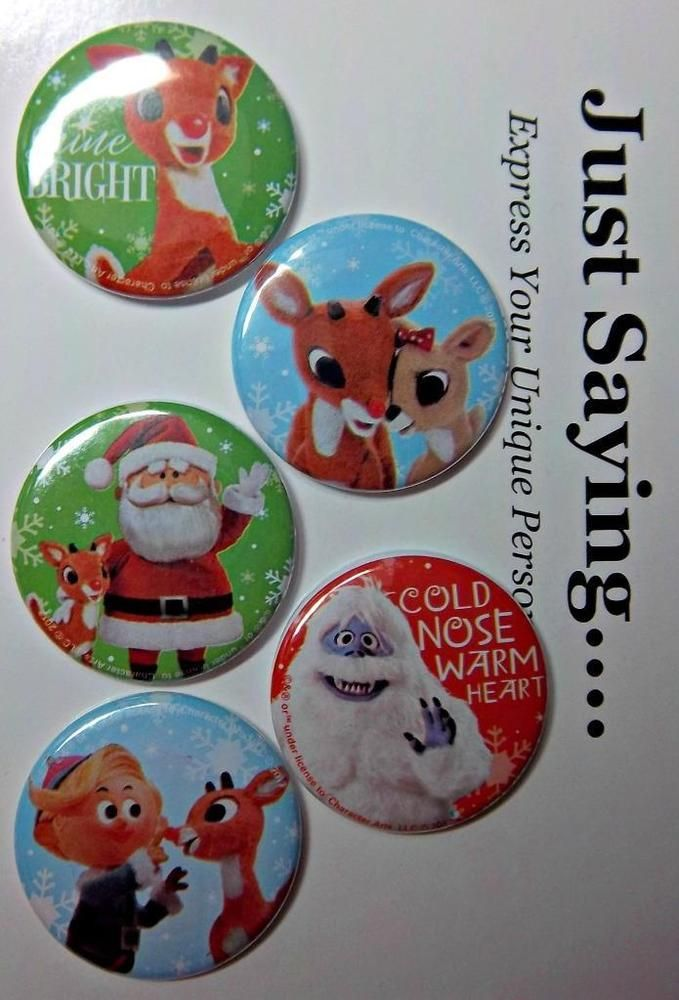 SANTA /& Rudolph Iconic Rudolph Movie  ~   LTD EDITION Retractable Reel ID Badge