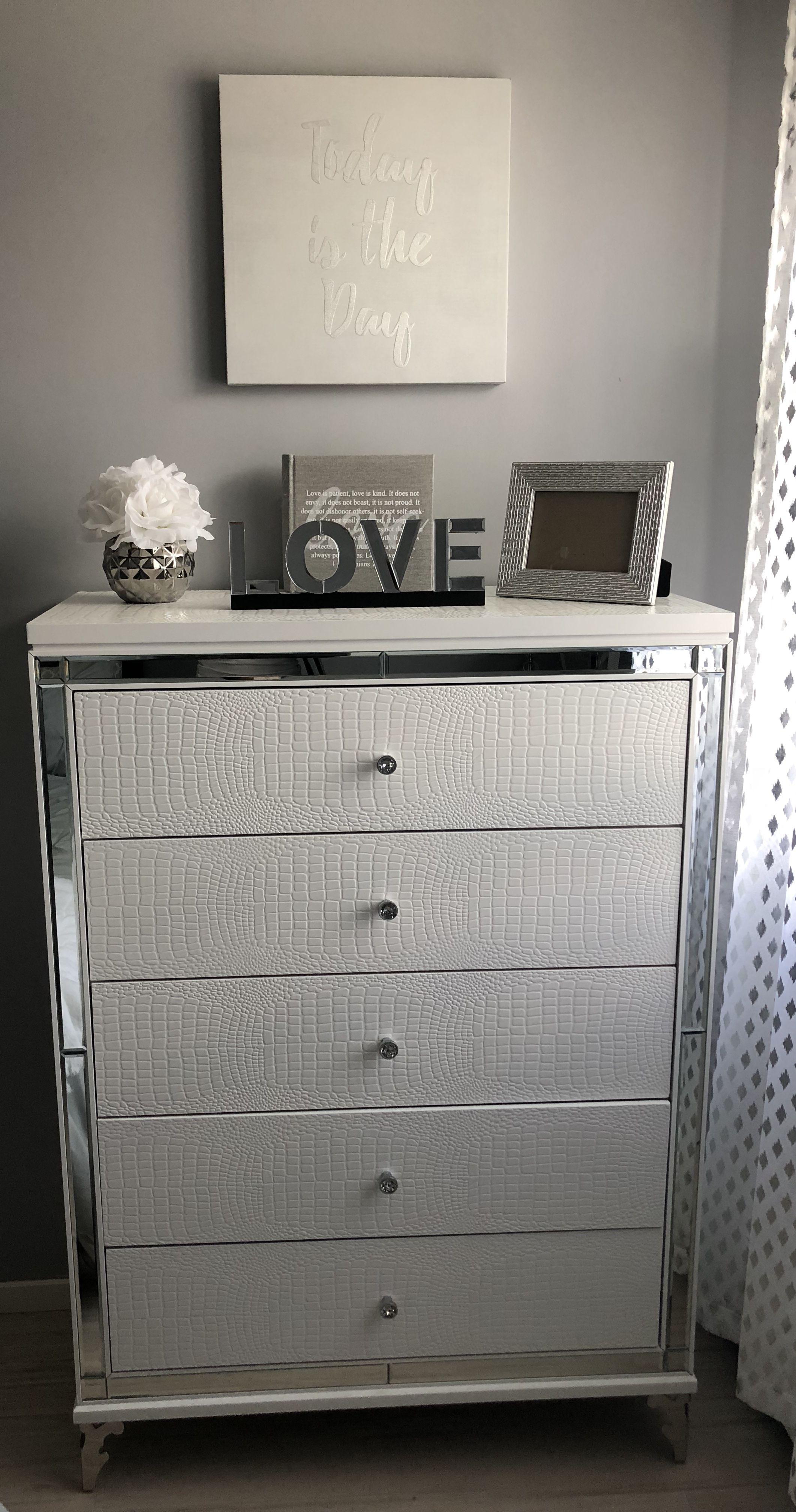 Home decor glam home decor silver white grey modern