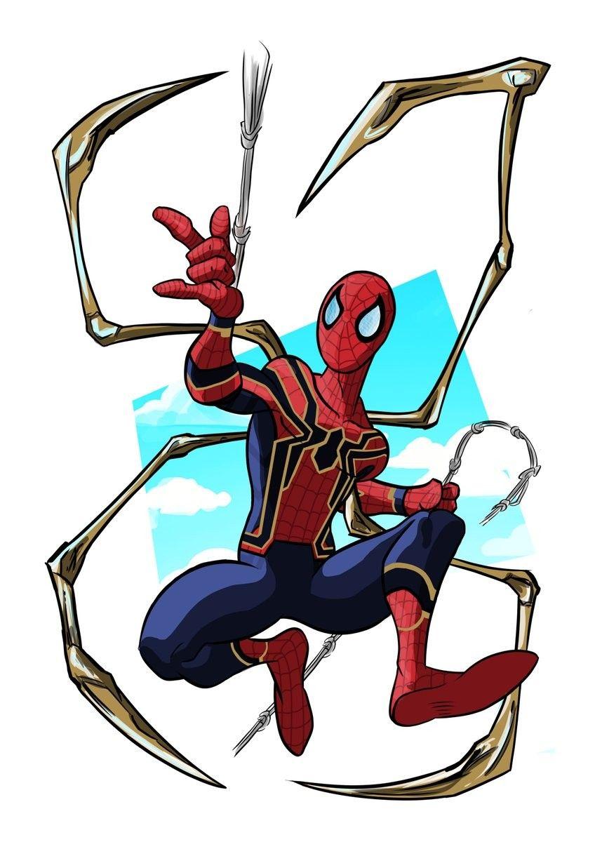 Iron Spider Dibujos Marvel Comics Spiderman