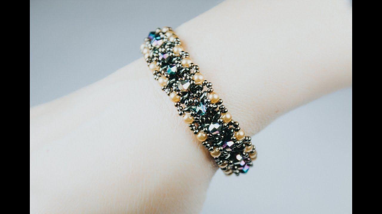 6da438d9aff702 Узенький двусторонний браслет (Часть 1 3) · Beaded Bracelets TutorialBeads  TutorialBeading TutorialsBeadworkDiy JewelryArm CandiesCrystalsBeaded ...