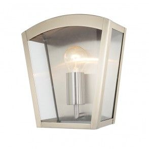 Hamble Outdoor Lantern Curved Wall Light Stainless Steel Contemporary Outdoor Wall Lights Outdoor Wall Lighting Wall Lights