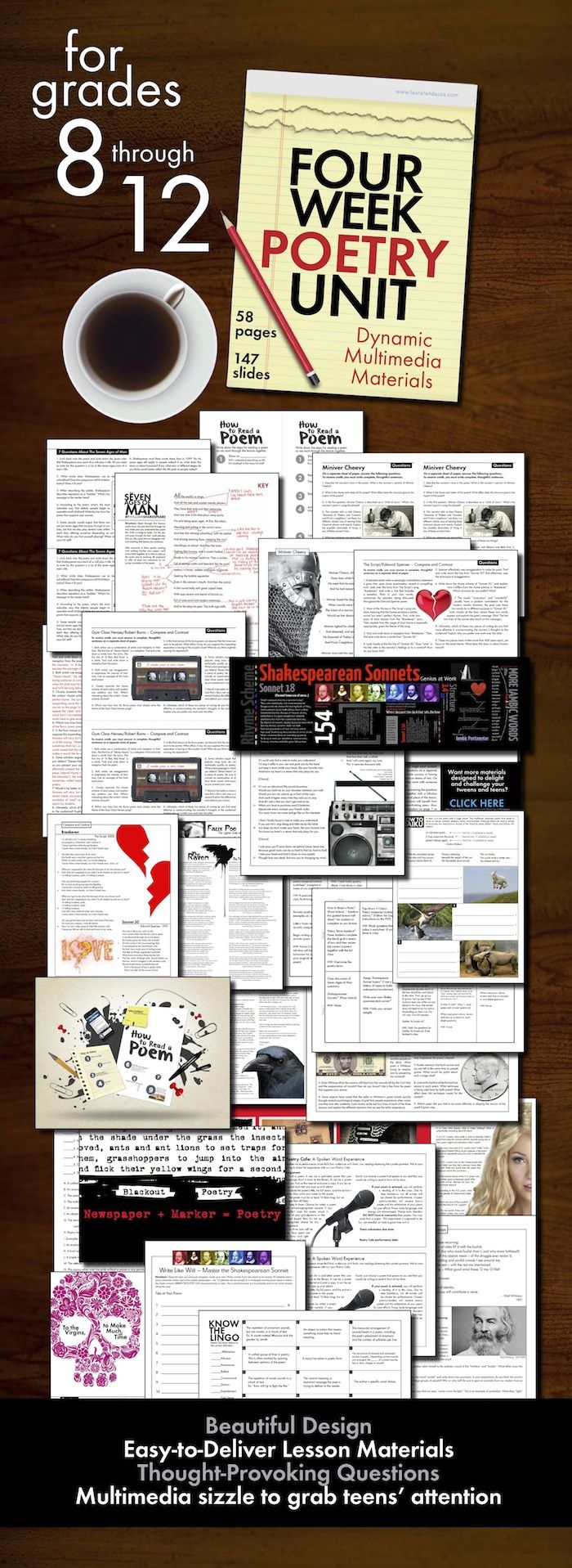 Poster design high school lesson - High School Poetry Unit Plan Four Full Weeks Of Dynamic Multimedia Lessons