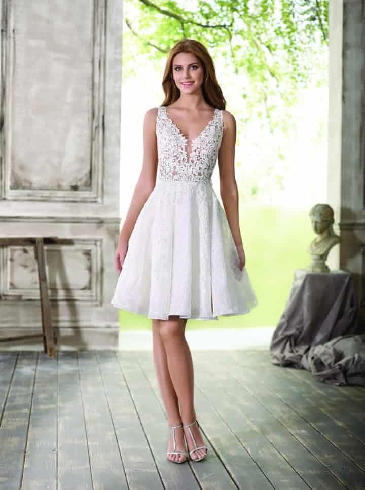 9fa2f2f9d2 40 vestidos de novia cortos  cómodos y sensuales