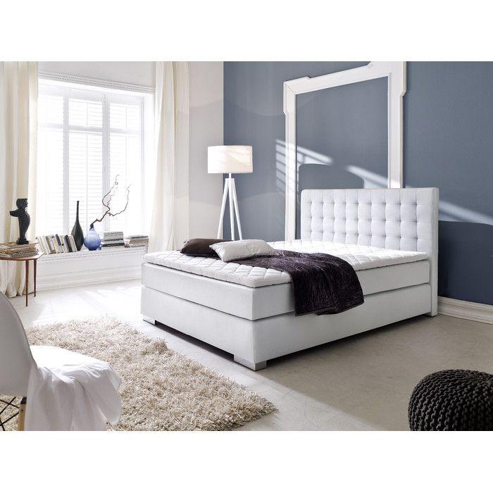 Polsterbett Sandra #weiß #Möbel #Polsterbett #Bett #Schlafzimmer - schlafzimmer braun weiß