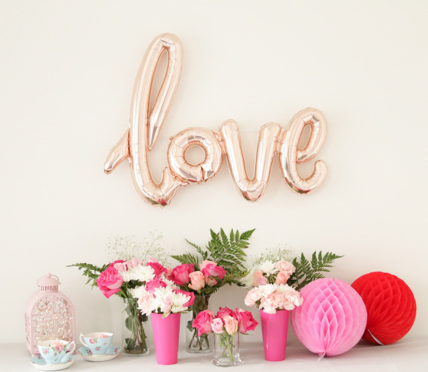 cf526dfd1b20 40 Inch Rose Gold LOVE Letter Balloons - Gold Mylar Balloon Letters