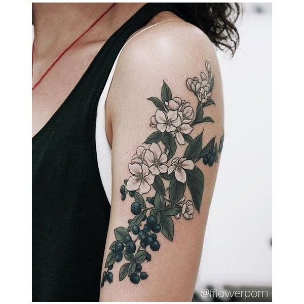 Sternum Tattoo Liked On Polyvore Featuring Accessories Body Art And Tattoos Apple Blossom Tattoos Floral Tattoo Sleeve Huckleberry Tattoo