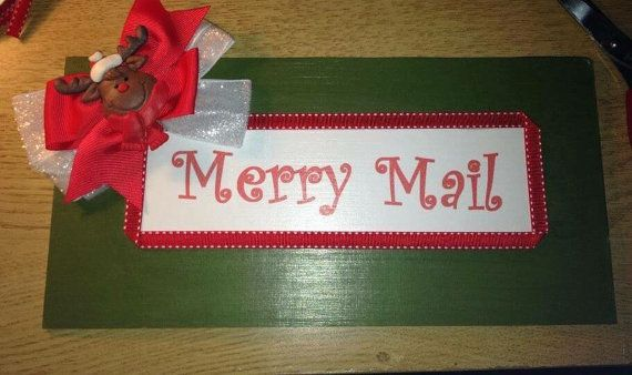 Merry Mail Christmas Card Holder by SweetLittleWishes on Etsy