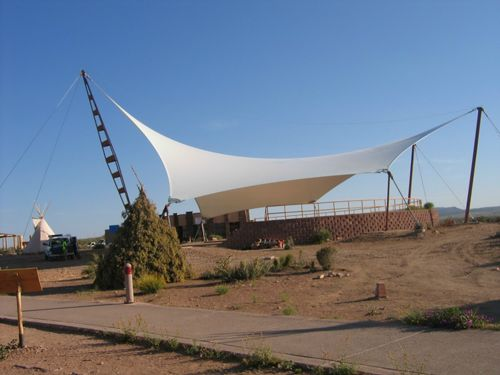 A Tensile Structure Is A Construction Of Elements Carrying