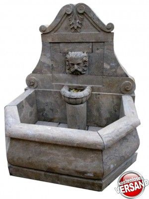 Wandbrunnen Gartenbrunnen Wasserbecken Brunnen Steinbrunnen