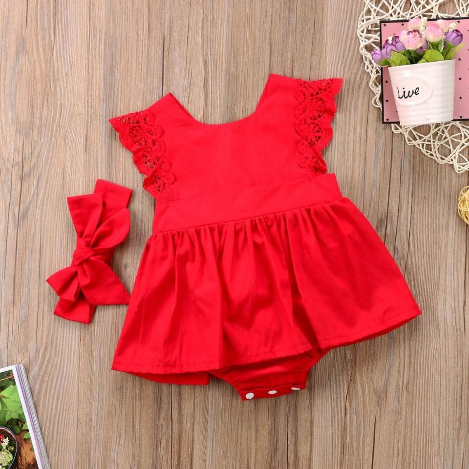 1d8ba1e65012 2018 Latest Design Wholesale Girls Baby Clothes Party Red baby ...