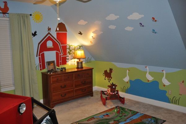 Farm Themed Boys Room You Have To See To Believe Barnyard Bedroom Country Themed Bedrooms Bedroom Themes